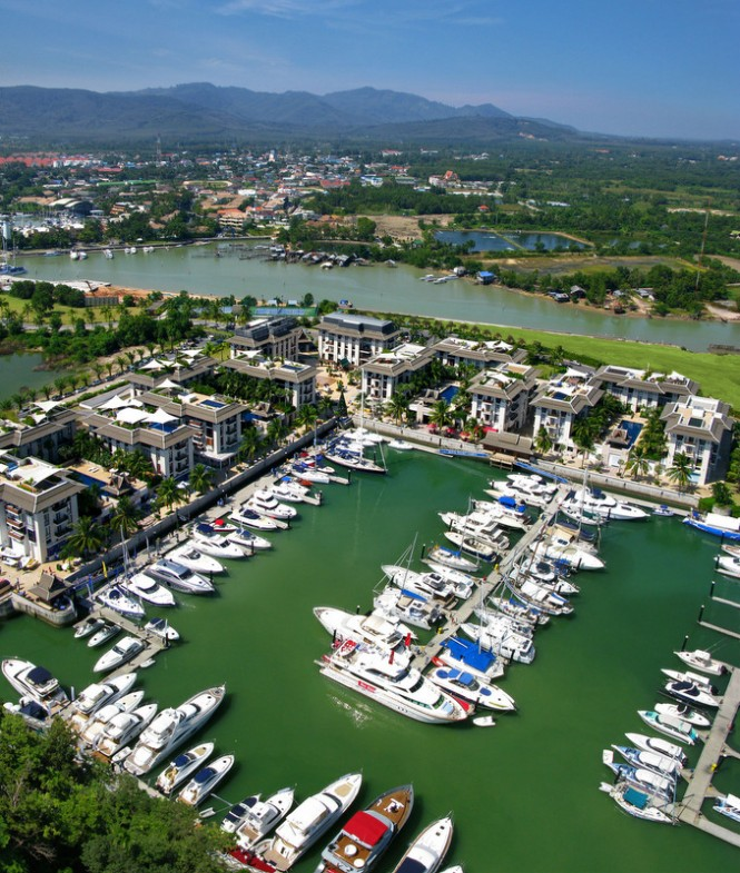 Royal Phuket Marina in the lovely Thailand yacht holiday location