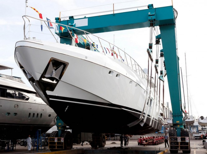 Second Mangusta 110 superyacht ready to hit the water