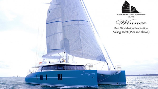Sunreef 74 sailing yacht WildBerry Winner of Asia Boating Award 2015