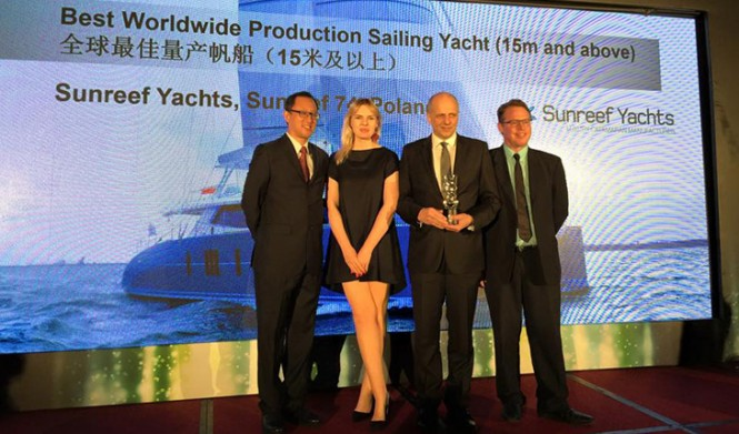 Sunreef Founder and CEO – Mr. Francis Lapp and PR & Marketing Manager - Karolina Paszkiewicz at the Asia Boating Awards 2015 Ceremony