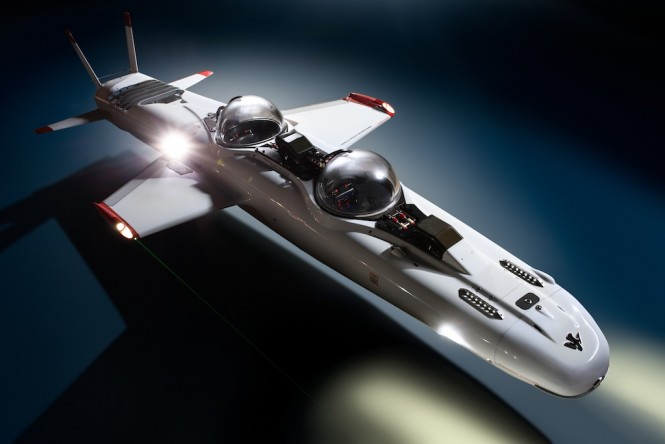 Super Falcon flying sub from DeepFlight