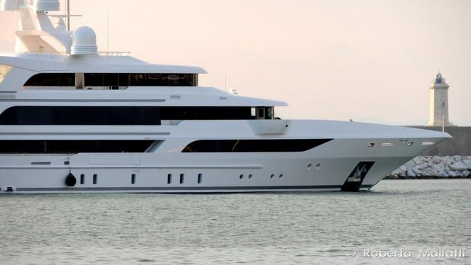 Super yacht Hull FB264 by Benetti - Photo by Roberto Malfatti