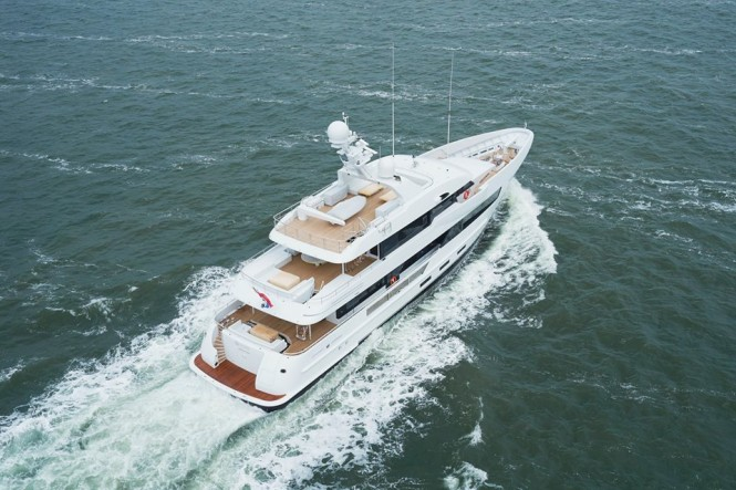 Super yacht Moon Sand from above - Photo credit to Feadship