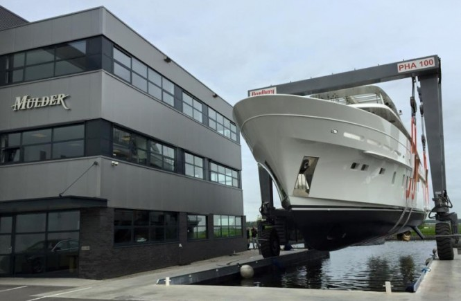 Superyacht Firefly ready to hit the water - Photo by Mulder Shipyard and Dutchmegayachts