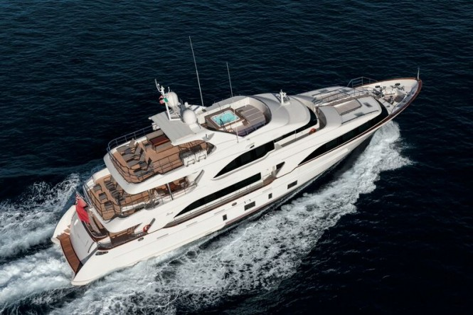 Superyacht NOMADESS from above
