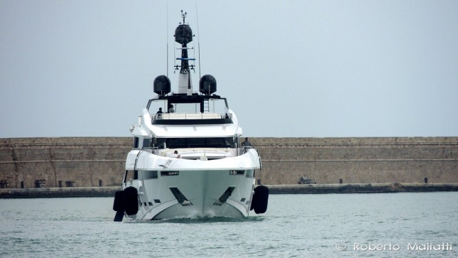 Superyacht Polaris - front view - Photo by Roberto Malfatti