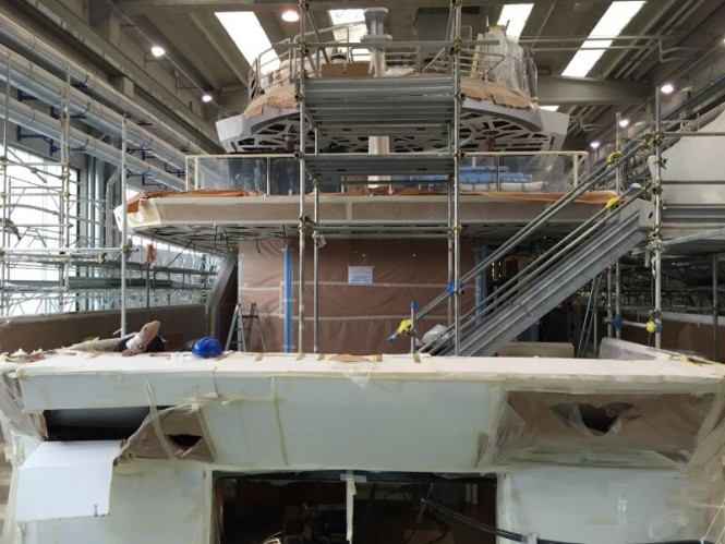 Tankoa luxury yacht S693 in build