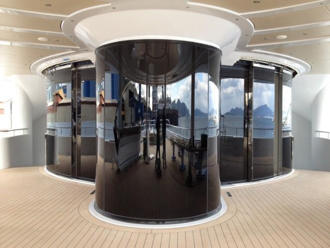 Trend Marine's glazing aboard MARYAH superyacht
