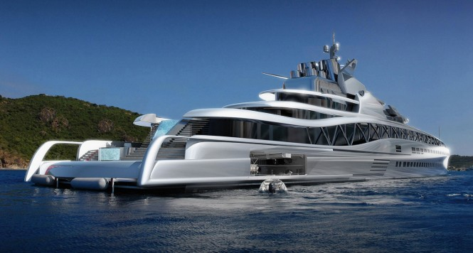 145m motor yacht FORTISSIMO concept by Ken Freivokh