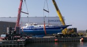 36m Jonger sailing yacht Tamer II ready to be re-launched