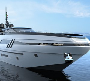 Beautiful 43m Motor Yacht ELDORIS concept by Federico Fiorentino and Eurocraft