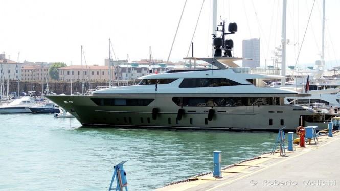 46Steel superyacht ACHILLES by Sanlorenzo in Livorno, Italy - Photo by Roberto Malfatti