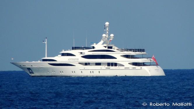56m Benetti super yacht ANNAEVA - Photo by Roberto Malfatti