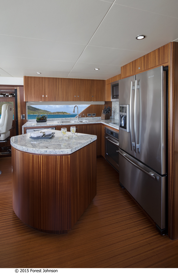 72 OA Yacht - Galley - Image by 2015 Forest Johnson