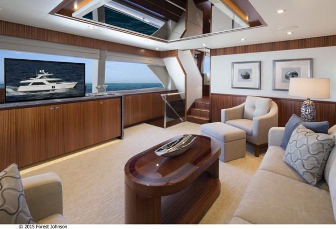 Aboard luxury yacht 72 Ocean Alexander - Image by 2015 Forest Johnson