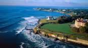 Aerial Photo - Newport- Rhode Island Coast with Newport Mansions Credit to Rhode Island Tourism Division