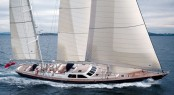 Alloy super yacht Blue Too (ex Charlatan) under sail
