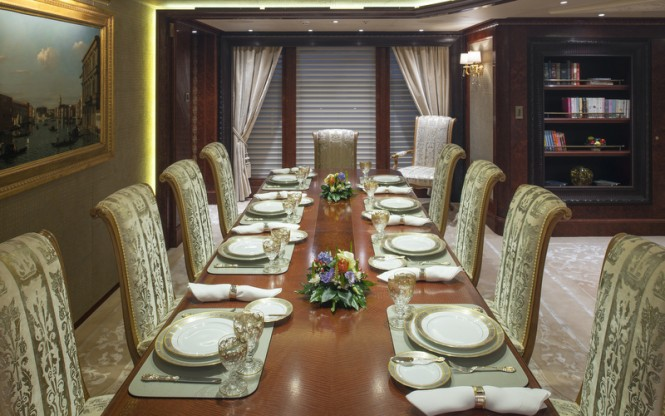 ESTER III superyacht - Dining - Photo by Klaus Jordan