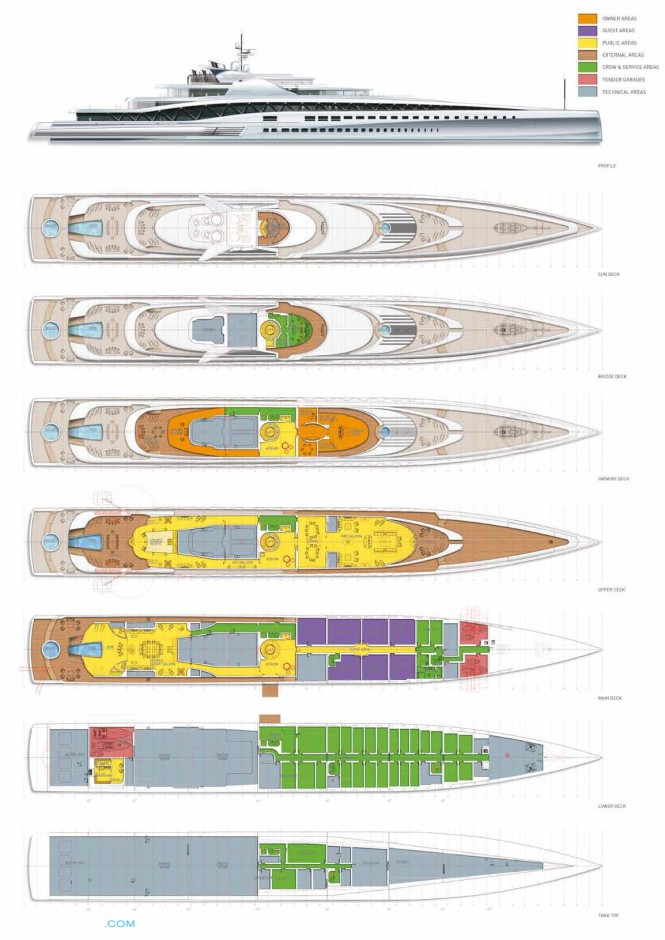 FORTISSIMO Yacht Concept - Layout