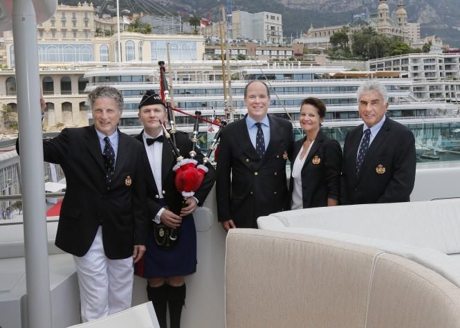 HSH Prince Albert II aboard YERSIN Yacht @Ameller