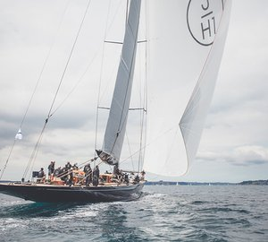 J Class Falmouth Regatta kicks off marked by first day victory of Majestic LIONHEART Yacht