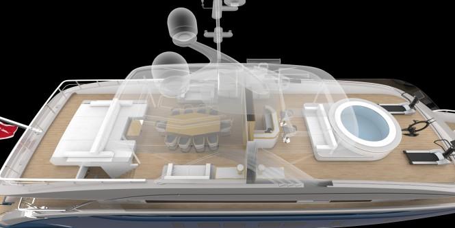Luxury motor yacht DYNAMIQ D4 - Sundeck