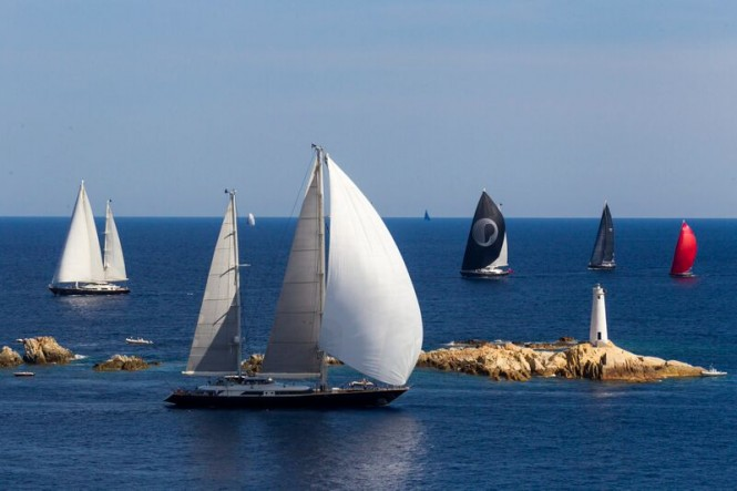 Luxury sailing superyachts by Perini Navi at the Perini Navi Cup