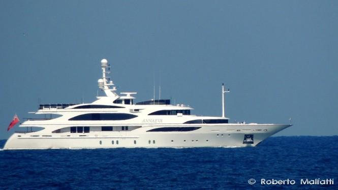 Luxury yacht ANNAEVA - Photo by Roberto Malfatti