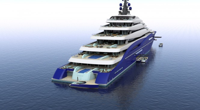 Luxury yacht DOUBLE CENTURY concept