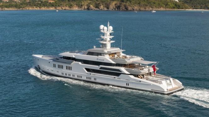 Luxury yacht ESTER III - aft view - Photo by Klaus Jordan