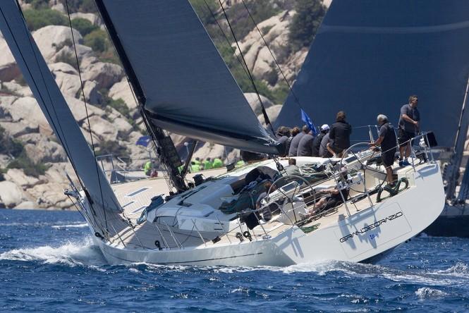 Luxury yacht GRANDE ORAZIO under sail - Photo by Ingrid Abery