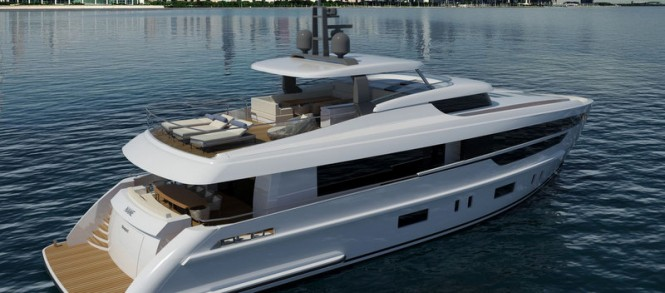 Luxury yacht Mulder 2800 RPH concept - aft view