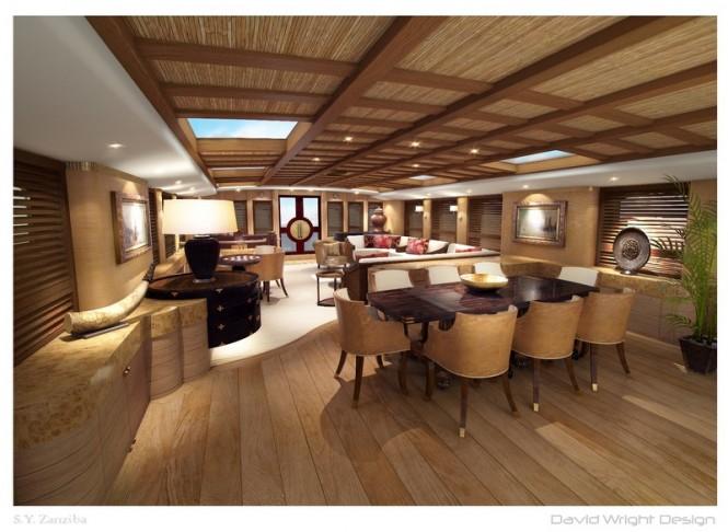 Luxury yacht Zanziba - Saloon