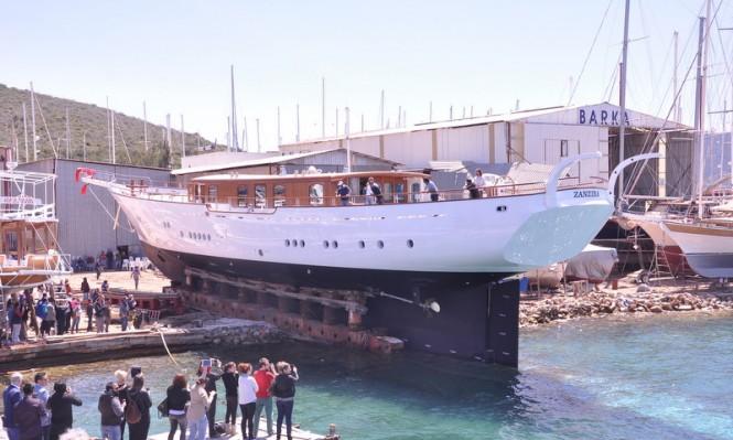 Luxury yacht Zanziba ready to splash