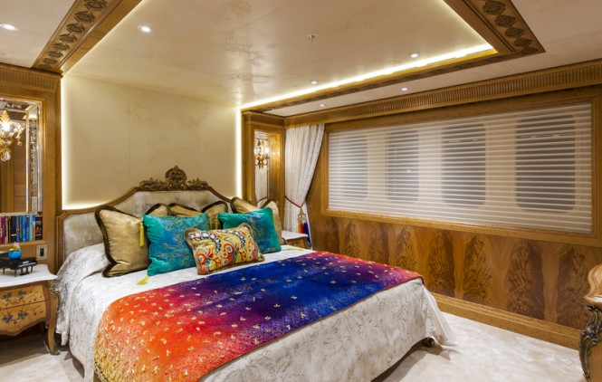 Mega yacht ESTER III - Guest Cabin - Photo by Klaus Jordan