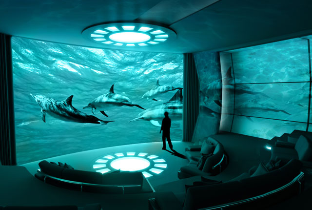 Mega yacht FORTISSIMO concept - Private Theater
