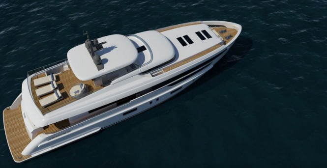 Mulder 2800 RPH Yacht Concept from above