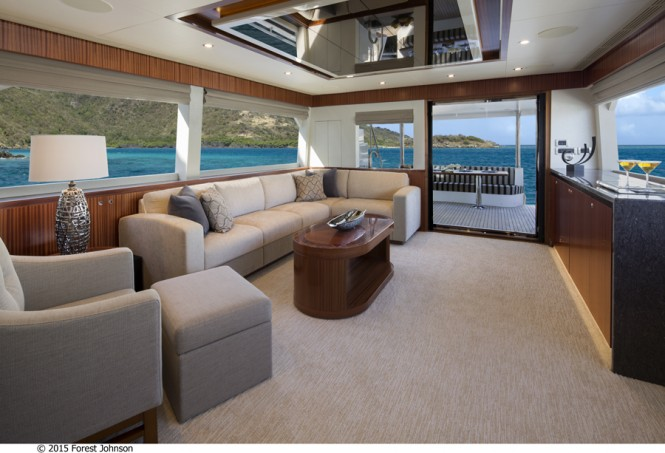 OA 72 Yacht - Custom Interior by Destry Darr - Image by 2015 Forest Johnson
