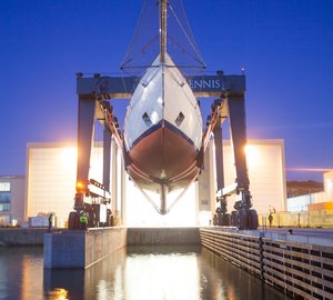 Re-launch of Majestic 65m Mega Yacht ADIX after refit at PENDENNIS