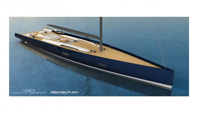 Rendering of Baltic 130 Custom Yacht with launch in 2016