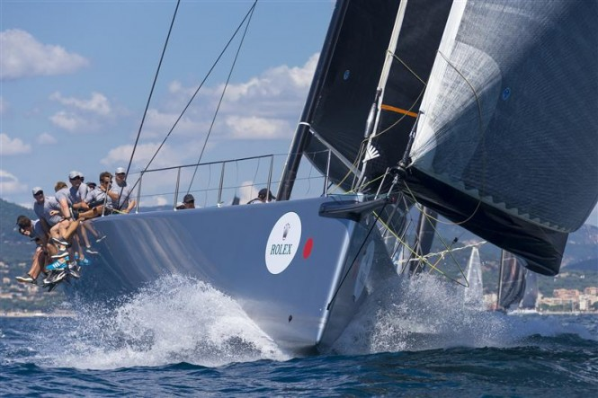 Sailing yacht CAOL ILA R during the second inshore race - Photo by Rolex Carlo Borlenghi