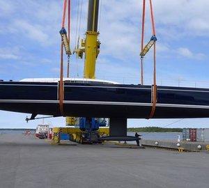 New Sailing Yacht Swan 115-001 S splashes at Nautor's Swan