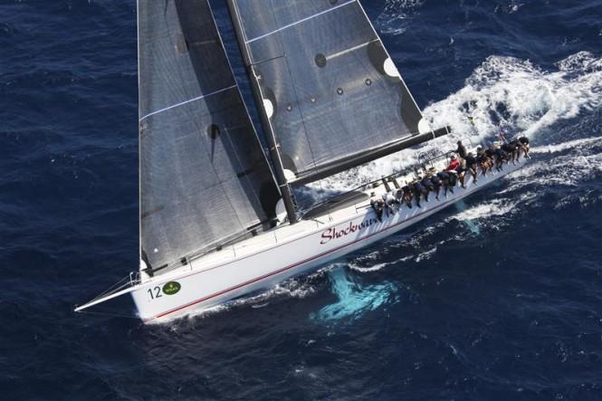 Shockwave Yacht under sail - Photo by Rolex Carlo Borlenghi