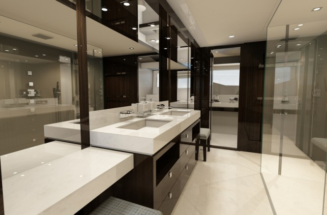 Sunseeker super yacht '131 Yacht' - Master En-Suite