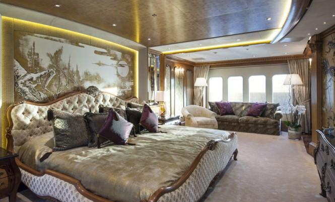 Super yacht ESTER III - Owners Suite - Photo by Klaus Jordan