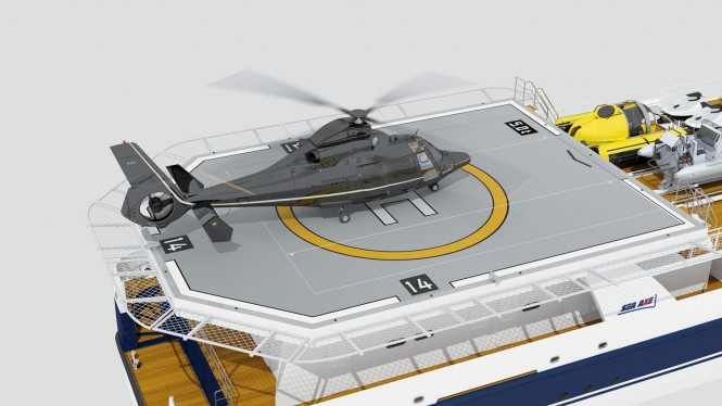 Super yacht support vessel SEA AXE 6911 - Helicopter Hangar