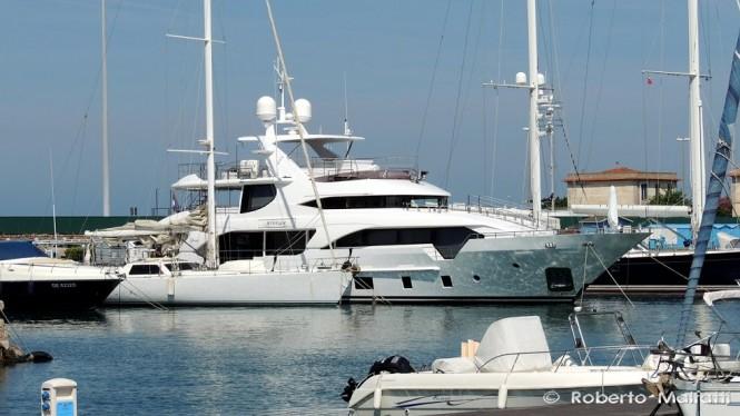 Superyacht ATTITUDE in the port of Livorno, Italy - Photo by Roberto Malfatti