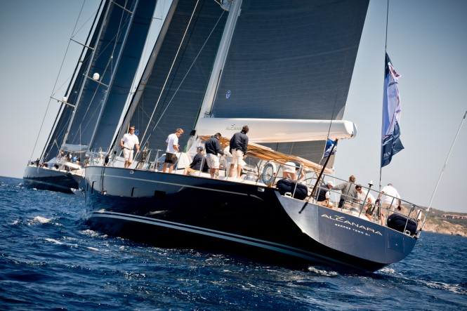 Superyacht Alcanara, third classified at Dubois Cup 2015. Photo by Jeff Brown Breed Media