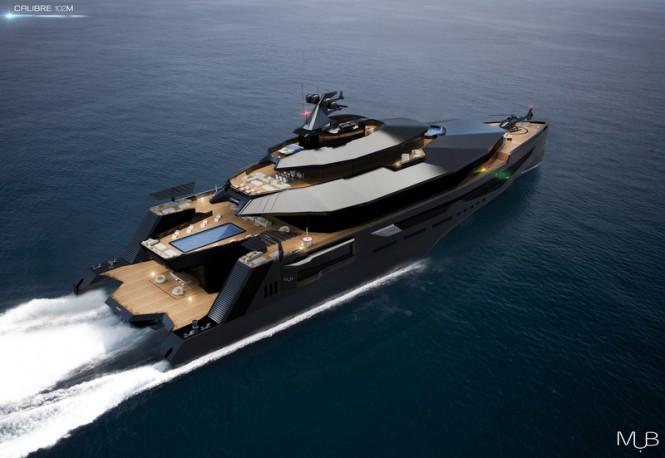 Super Fast 102M Mega Yacht CALIBRE Concept By MUB Charter
