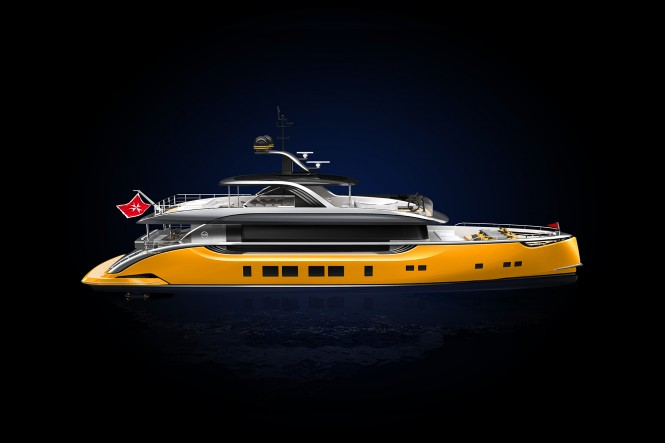 Superyacht DYNAMIQ S4 GTS Yellow